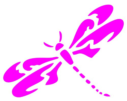 (Beach Graphic Pros Dragonfly Vinyl Sticker/Decal for Cars Trucks laptops Toolbox Windows (Hot Pink, 5
