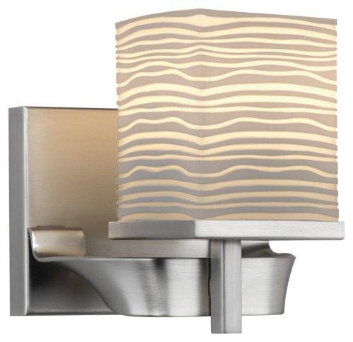 Forecast Lighting F440036 Isobar 1 Light Wall Sconce, Satin Nickel (Forecast Lighting 1 Light)