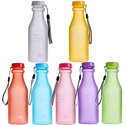 LINAE Water Bottles - 550ml Sports Water Bottle Container Leak-Proof Bottle for Outdoor Traveling