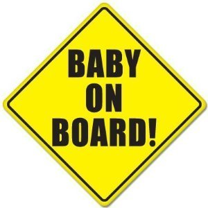 (BABY ON BOARD baby safety sign car sticker 5