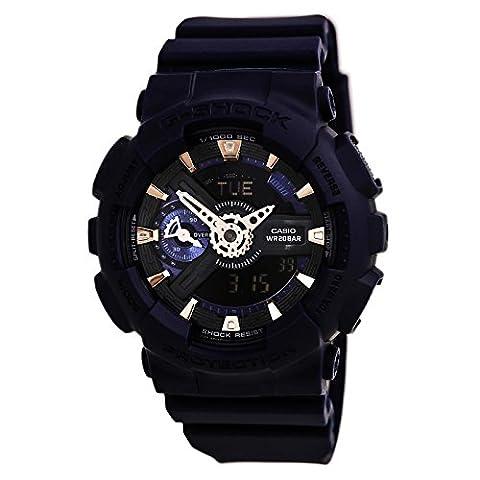 Casio G-Shock Blue Dial Resin Quartz Men's Watch GMAS110CM-2A (Blue G Shock Men)