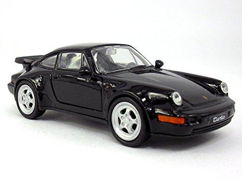 4.5 inch Porsche 911 / 964 Turbo Scale Diecast Model by Welly - Black - Porsche 911 Turbo Gt3