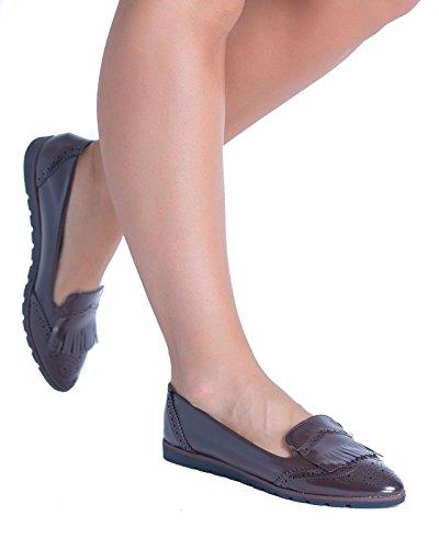 SnobUK - Zapatos de Vestir mujer café