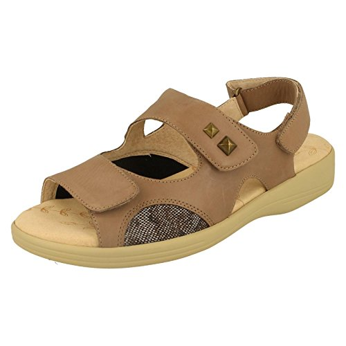 Ladies Padders EEEE Leather Sandals - Gem Taupe 8zSaUCsPP