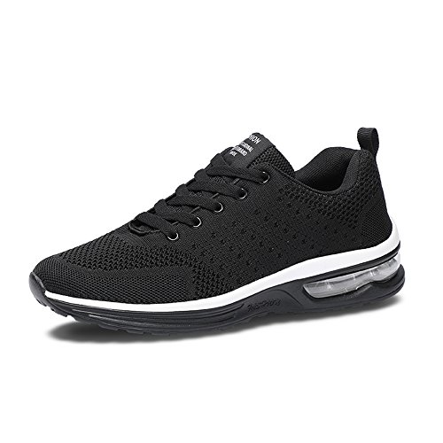 YMY Men's Women's Lightweight Sneakers Casual Shoes - Breathable Cushion Running Shoes Black 40 for sale
