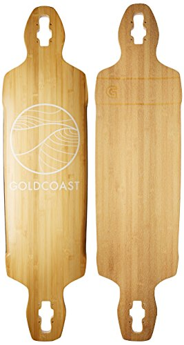 GOLDCOAST Bamboo Drop Through Longboard Deck - The Classic Bamboo Drop Through (Shark Tech Deck)