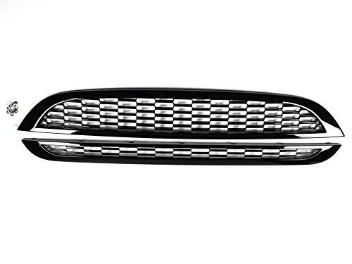 1023190 K/ühlergrill f/ür Cooper S One R50 R52 R53 Sportgrill SCHWARZ HOCHGLANZ