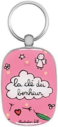 Porte Clés Opat La Clé Du Bonheur Rose Küche Haushalt