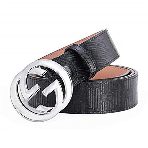 [해외]패션 가죽 금속 버클 남 여 남성 벨트 캐주얼 비즈니스 / Fashion Leather Metal Buckle Unisex Men Belt Casual Business