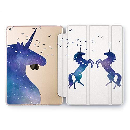 Wonder Wild Unicorn Silhouette Apple iPad Pro Case 9.7 11 inch Mini 1 2 3 4 Air 2 10.5 12.9 2018 2017 Design 5th 6th Gen Clear Smart Hard Cover Night Sky Stars Animals Horse Birds Constellation Art