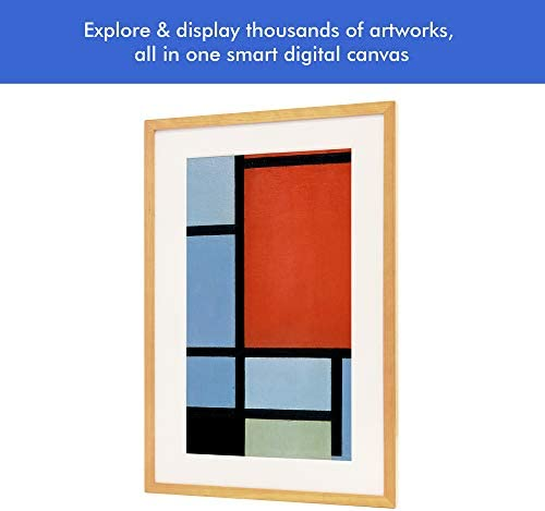 Canvia – Digital Art Canvas Smart Digital Frame 11AC WiFi 16GB 27x18in Frame Adv Full-HD Display Powered by ArtSense Free 2500 Artworks Wood