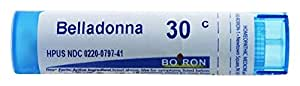 Boiron Belladonna 30C Homeopathic Medicine For Fever, 80 Count