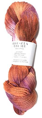 Artisan Yarns Hand Dyed Baby Alpaca Yarn, Hand Painted: Embers, Dk Weight, 80 Grams, 200 Yards, 100% Baby Alpaca