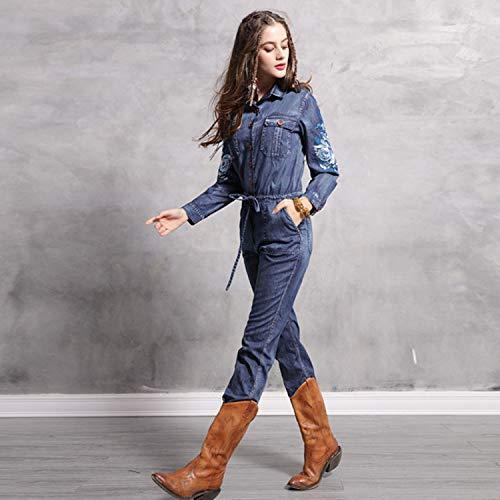 Pantaloni Coulisse Eleganti Moda Di Con Personalizzata Tuta Jeans Yxxhm Vintage Ricamo In t6xHw4qnYC