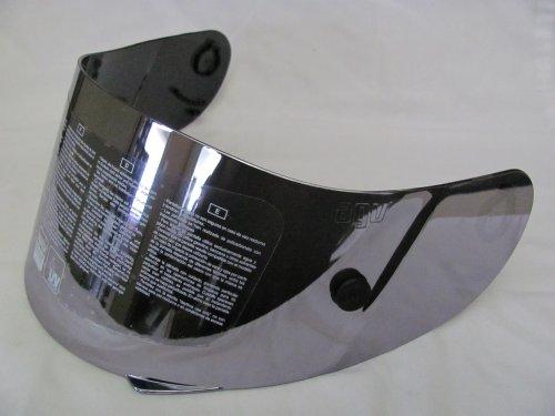 - AGV GP-TECH/T-2 FACE SHIELD/VISOR SILVER MIRROR ANTI-SCRATCH w/TEAR OFF POSTS