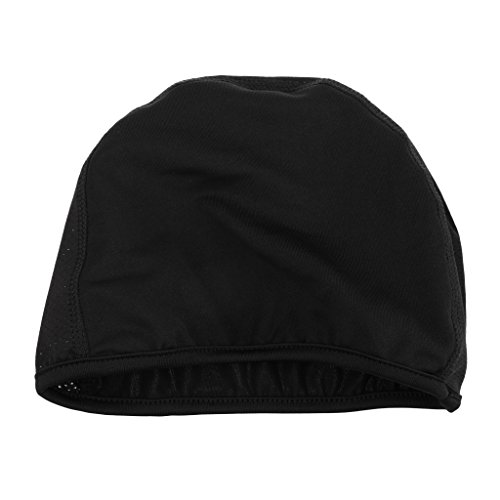 MagiDeal Black Cycling Skull Cap/Helmet Liner/Running Beanie - Ultimate Thermal Retention and Performance Moisture Wicking Fits for Under Helmets