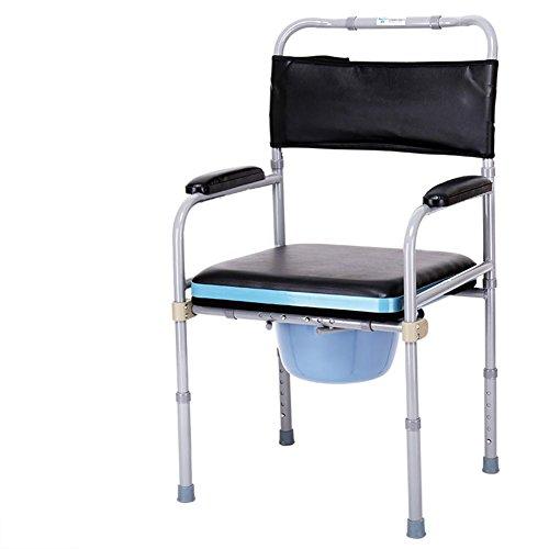 LUCKYYAN Healthcare Adjustable Commode Chair ,Foldable Toilet Bathroom chair Disability Mobility Aid , c
