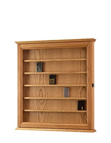Lighter Display Case Wall Cabinet-Oak *Made in the USA*