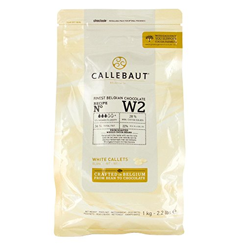 Callebaut Recipe No. W2 Finest Belgian White Chocolate with 28-Percent Cacao, 23-Percent Milk, 2.20 Pound