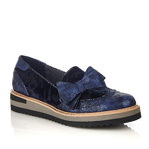Riva Shoo Matching Shoes Joanne Bag Loafer amp; Women's Ruby Blue wZWUvxqF66