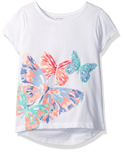 Gymboree Big Girls Graphic Active Tee  White  S