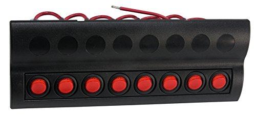DC 12V 8 Gang LED Indicator Boat Rocker Switch Panel Inbuilt Auto Fuse for Boat - Electric 250 Helicopter