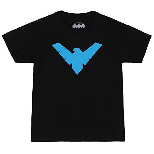 (DC Comics Superman Tees Youth Batman/Nightwing Symbol Tee - Black (X-Large))