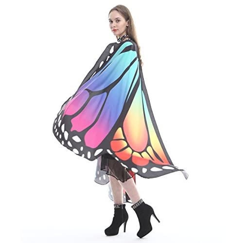 Christmas Party Soft Fabric Butterfly Wings Shawl Fairy Ladies Nymph Pixie Costume Accessory
