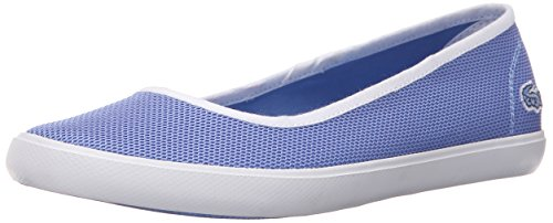 Lacoste Women's Marthe Slip on 216 1 Flat, Blue, 9 M US