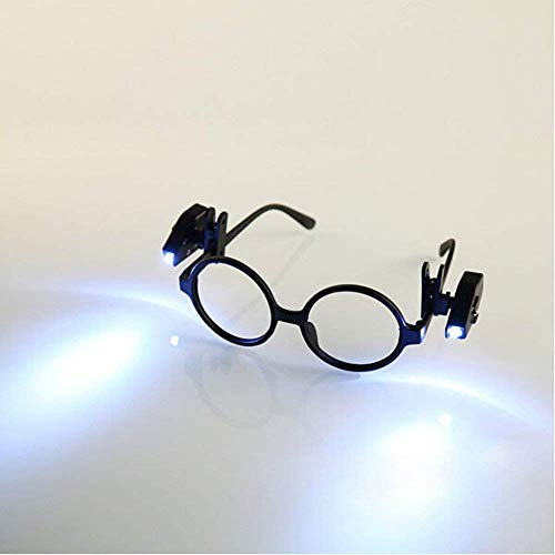 2PCS Universal Flexible LED Clip On Mini Book Reading Light Adjustable LED Night Lamp For Safety EyeGlasses camping Reader (glasses NOT included) -