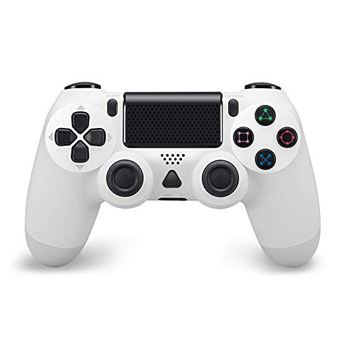 Wireless Controller for PS4, Modded PS4 Controller Dualshock 4 Wireless PS4 Pro Controller Built-in Speaker/Gyro/Motors with Touch Panel Share Button LED Indicator USB Cable for PS4/Pro/Slim (White)