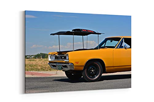 1969 Dodge Super Bee Hemi Muscle Old Classic Original USA 21 - Canvas Wall Art Gallery Wrapped 26