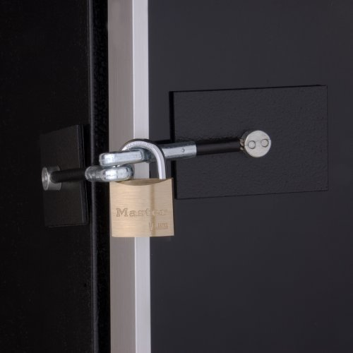 Black Refrigerator Door Padlock Marinelock
