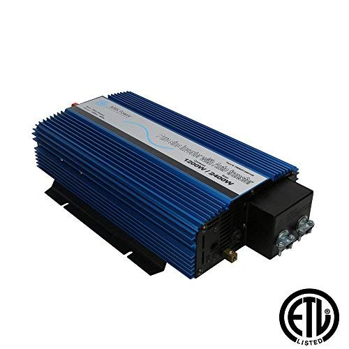AIMS Power PWRIX120012SUL Pure Sine Inverter with Transfer Switch, 1200W Continuous Power, 2400W Surge Peak Power, Intelligent Cooling Fan, Less Than 20msec Transfer Time by Aims Power