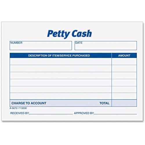 Adams 9672 Receipt Pad, Petty Cash, 5-1/2 in.x2-5/6 (Adams Petty Cash Receipt Pad)