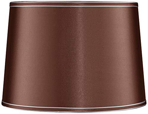 Soft Brown Shade - Soft Brown Drum Lamp Shade 14x16x11 (Spider) - Springcrest