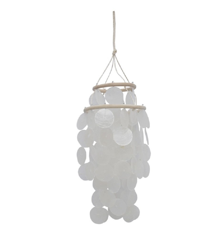 Chesapeake Bay 10 WHITE CAPIZ CHANDELIER 22282