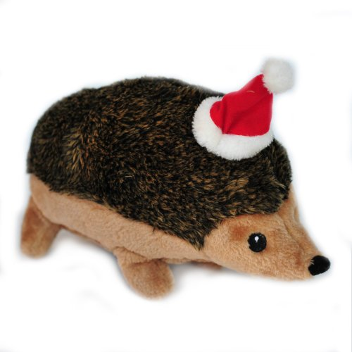ZippyPaws Holiday Hedgehog (3 Sizes) – Squeaky Plush Dog Toy (XL), My Pet Supplies