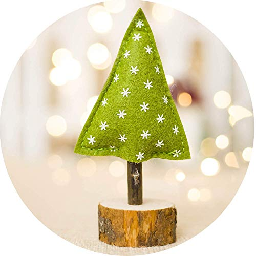 (Christmas Gifts Christmas Wooden Decorations Striped Printed Christmas Tree Kids Toy Christmas Tree,4,6,15)