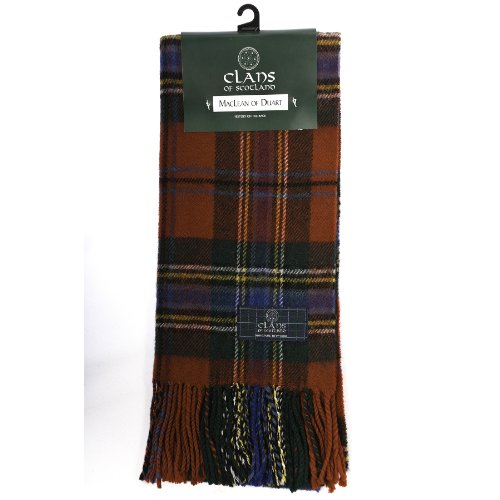 clans-of-scotland-pure-new-wool-scottish-tartan-scarf-maclean-of-duart-one-size
