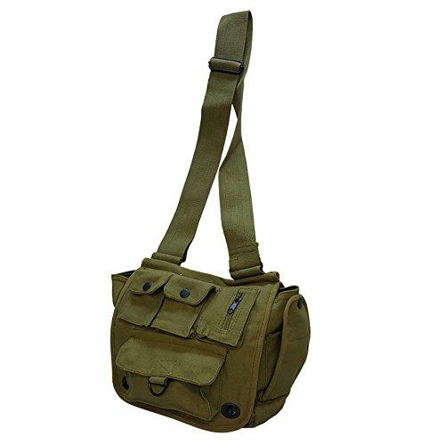 Military Venturer Shoulder Bags Packs Messenger Bag Multi-Pocket - Messenger 13' Green Bag