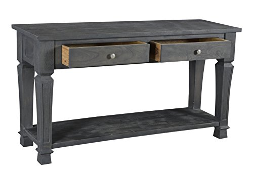 Moti Furniture 91005001 Carmenita 2-Drawer Console Table, Regular - Polished Nickle Accents