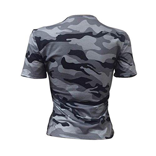 Rosennie Oberteile Damen T-Shirt Loose Oversize Shirt Oberteil /Übergr/ö/ße Sommer Kurzarm Blusen V-Ausschnitt Gedruckt Casual Shirt Frauen Lange Tops Bluse Tshirt