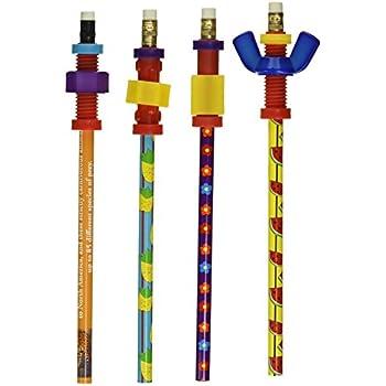 Amazon Com Fidget Pencil Toppers On Pencil Set Of 6 3