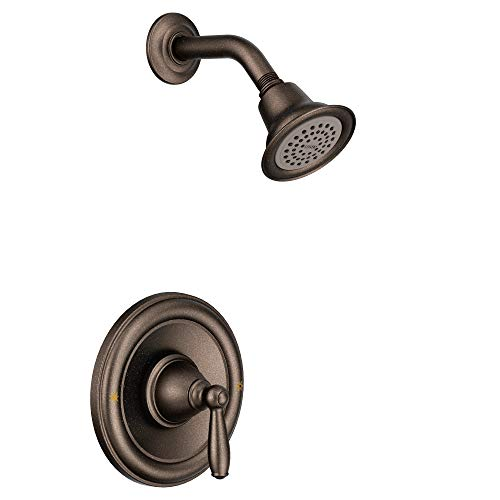 Moen T2152ORB Brantford Posi-Temp Pressure Balancing Shower Valve Trim Kit Valve Required, Oil-Rubbed Bronze (Moen Tub Shower Trim Kit Oil Rubbed Bronze)