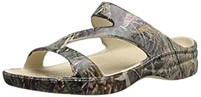 DAWGS Womens Arch Support Mossy Oak Z Sandals Duck Blind Size 5