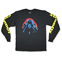 The Weeknd Starboy Mens Black Long Sleeved Shirt Adult