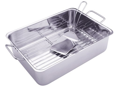 Progressive International Stainless Steel Roasting Pan