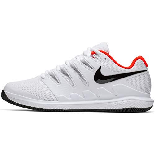 Nike Men's Zoom Vapor X HC Wide White/Black/Vast Grey/Summit White (7 D US, White/Black/Bright Crimson)