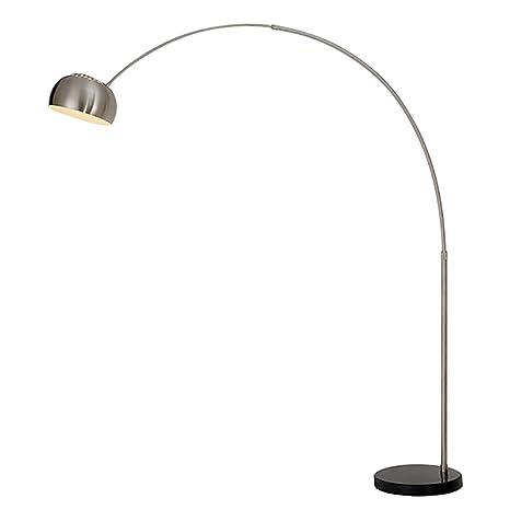 Lámpara de pie separado cromado Design - SOCLE mármol ...